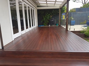 Deck Saver - Merbau deck after