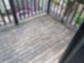 Heritage pine deck before