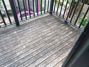 Deck Saver - Heritage pine deck before
