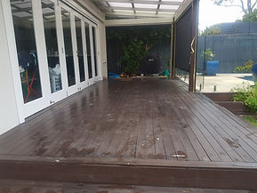 Deck Saver - Merbau deck before