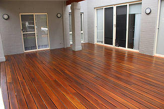 Deck Saver - Spotted gum deck after