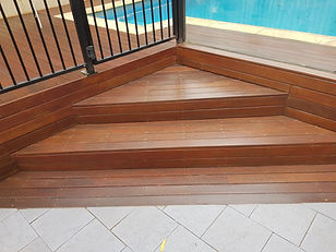 Deck Saver - Merbau steps after