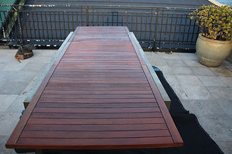Deck Saver - Teak table after