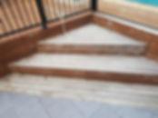 Deck Saver - Merbau step before