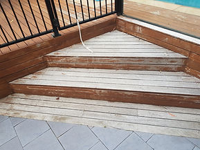 Deck Saver - Merbau step before