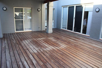 Deck Saver - spotted gum deck before