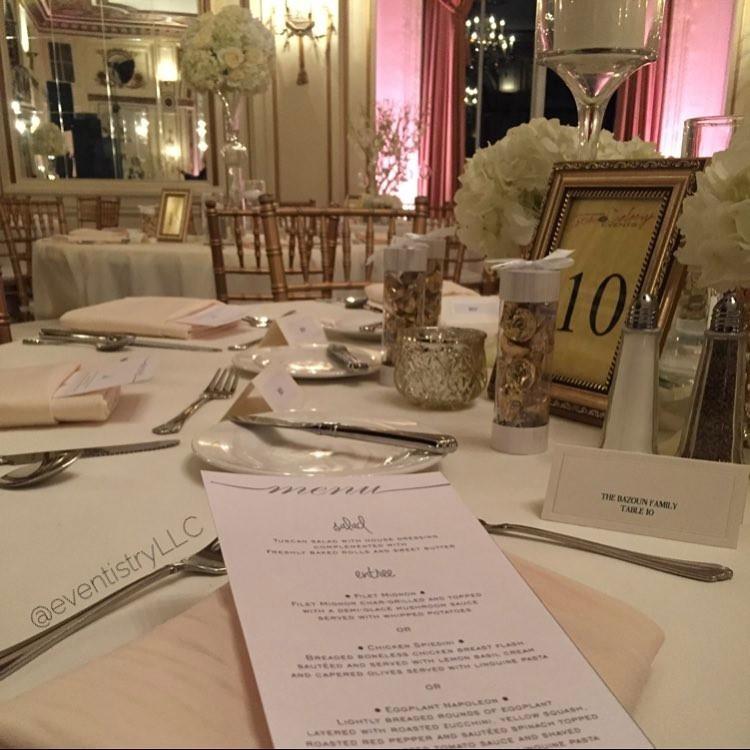 Eventistry | Wedding Menu Design