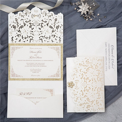 Graceful Lace Trifold | PF
