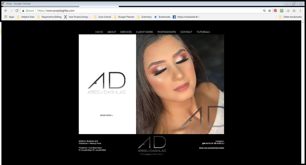 MakeupByAreej | Website