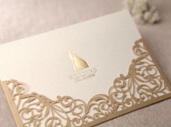 Modern Elegance Unique Card | LaserCut