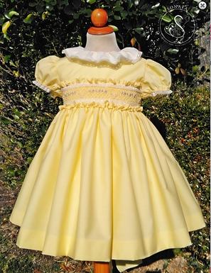 Smocked Puffball Dress