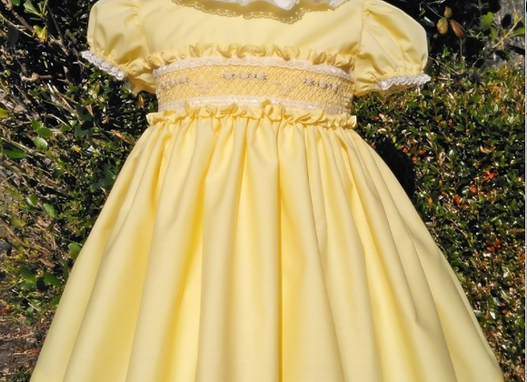 Smocked Puffball Dress