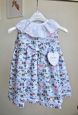 Kinder Boutique Farm Animal Shoulder Cut Dress