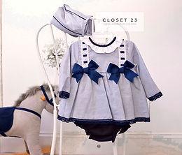 Baby Ferr Grey x Navy Set