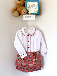 Arthur Royal Red Tartan Traditional Set
