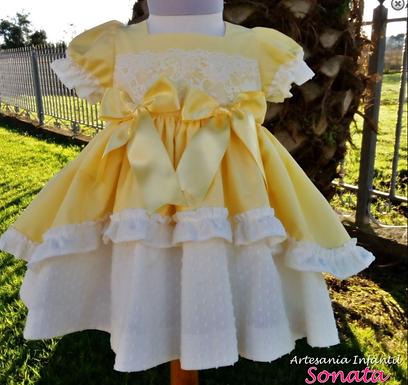 Lemon Puffball Dress