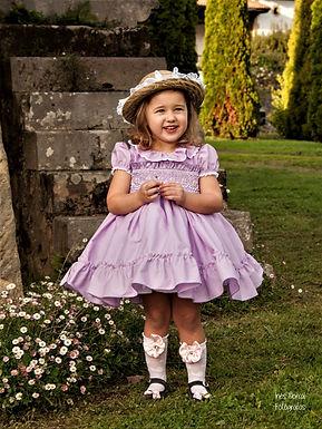Lavender Puffball Dress