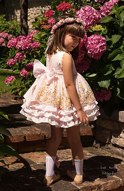 Peachy Puffball Dress