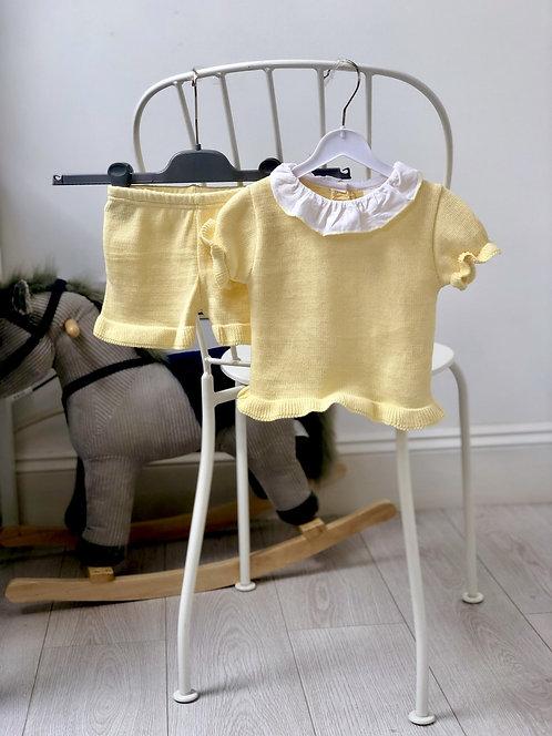 Amaia Ruffle Two Piece Set- Mellow Yellow