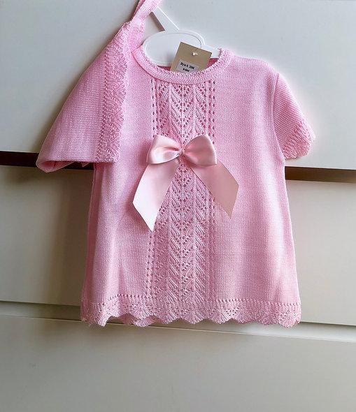 Little Lady Dress & Bonnet Set