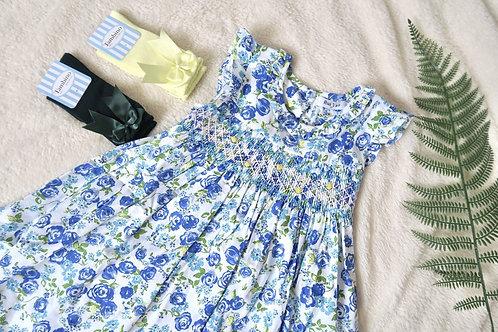 Smocked Vines & Roses Dress