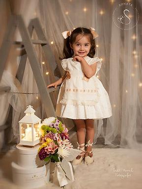 Ivory Puffball Dress