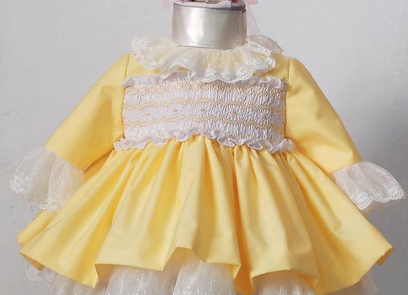 Lemon Hand Smocked Dress