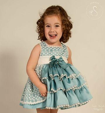 Teal Puffball Dress