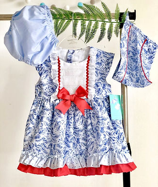 Baby Ferr Sweeping Leaves 3 Piece Traditional Dress Set