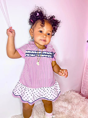 Candy Stripes Dress & Bloomers - Del Sur
