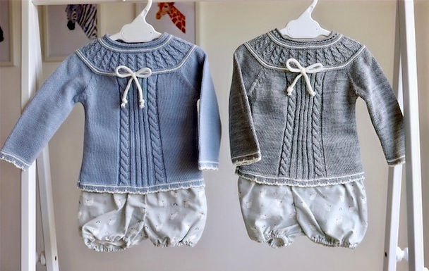 Classic Cat CableKnit Two Piece