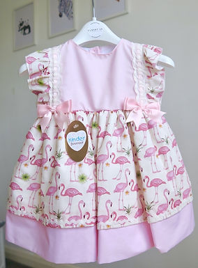 Kinder Anglaise Broderie Flamingo Dress