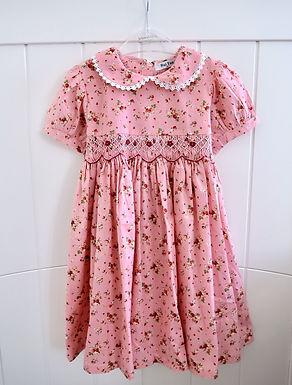 Smocked Strawberry Summer Fruits Dress