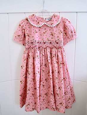 Smocked Strawberry Summer Fruits Dress