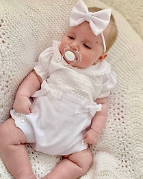 All White Portuguese Set with Bloomers