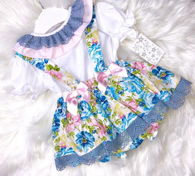 Muted Pastels Floral Dress Set