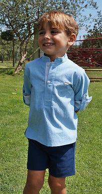 Prince Charming Blue Waffle Shirt Two Piece