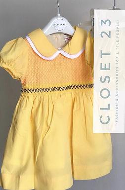 Sunshine Yellow Hand Smocked Dress
