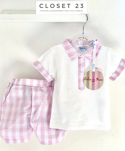 Dulce de Fresa Nautical Polo &Shorts Set