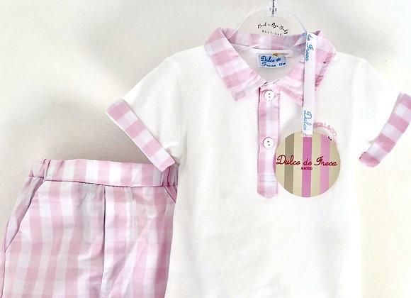 Dulce de Fresa Nautical Polo &Shorts Set
