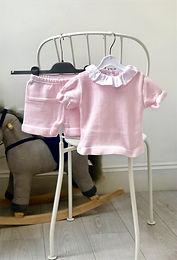 Amaia Ruffle Two Piece Set- Pearl Pink