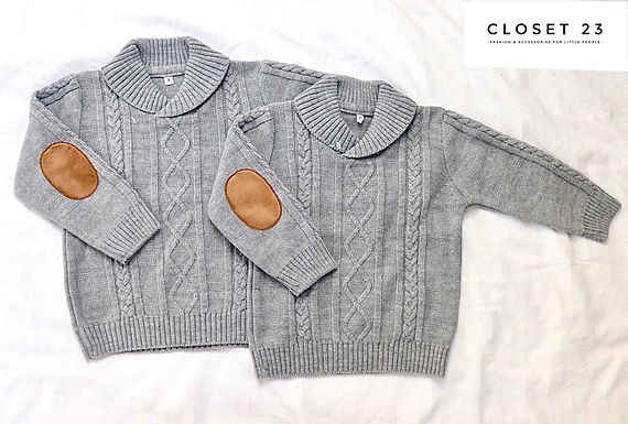 Shawl Neck Cable Knit Jumper