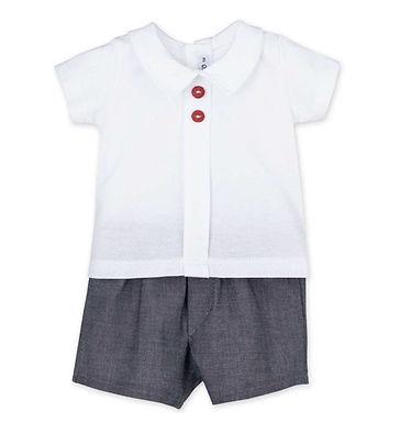 Calamaro Baby - Classic Pleat Top & Shorts Set