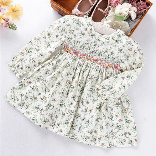 Floral HandSmocked Frill Dress