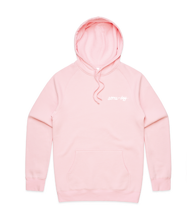 some-day pink hoodie