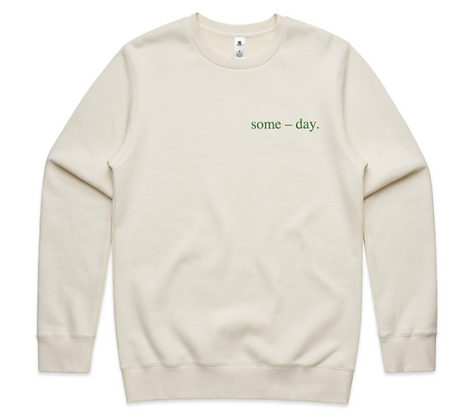 some-day crew ~ ecru with green cactus