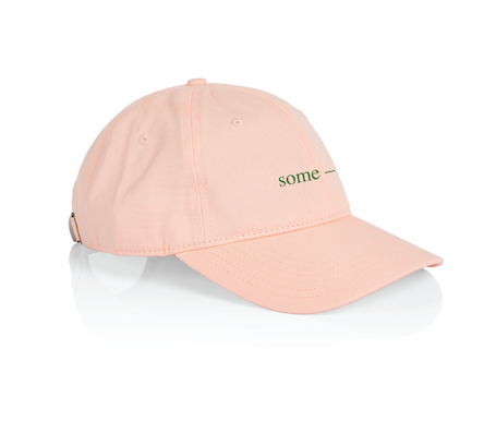 some-day cap ~ pink with green
