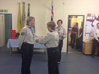 Cub Scout Leader honoured with Wood Badge