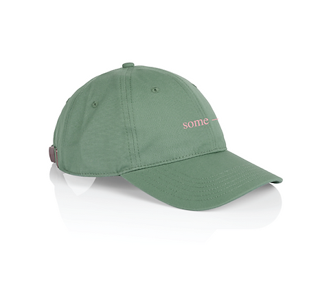 some-day cap ~ green with pink