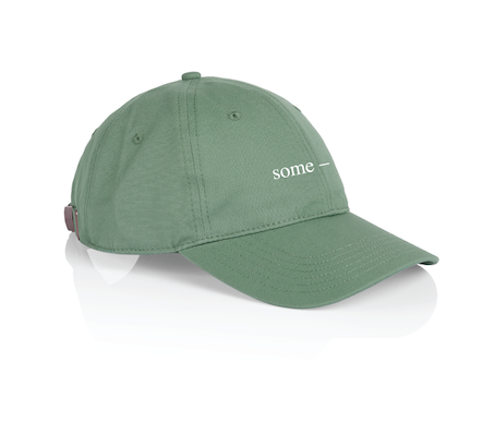 some-day cap ~ green with white